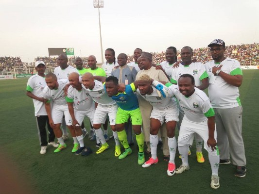Charity Match: Kanu, Diouf, Ideye In Action As Kano Pillars Beat African Legends