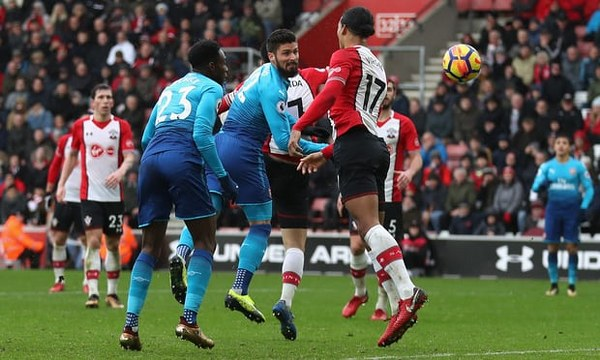 Iwobi Benched As Giroud Rescues Point For Arsenal Vs Southampton
