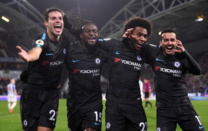 Moses Stars As Chelsea Win, Success Benched In Watford Defeat, Burnley Go Fourth