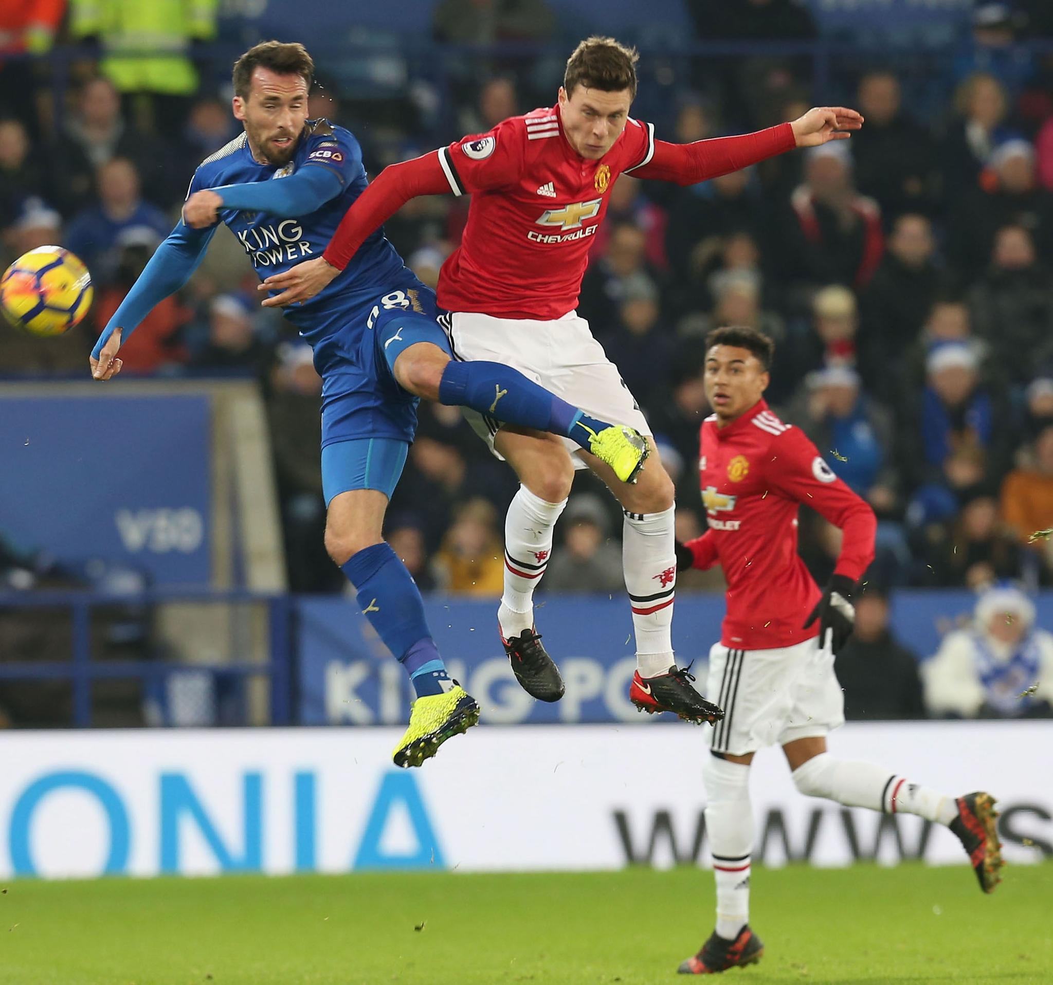 Ndidi Returns, Iheanacho, Musa Out As 10-Man Leicester Hold Man United