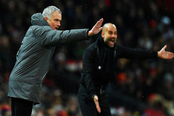 Mourinho Blames Referee For Manchester Derby Defeat, Concedes Title To 'Lucky' City