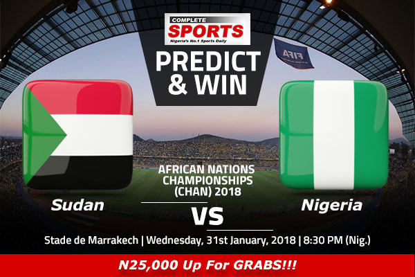 Sudan vs Nigeria: Win 25000 In Complete Sports' Predict And Win Competition