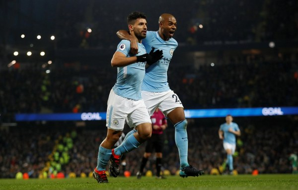 Aguero Hits Hat-trick As Man City Restore 12-Point Gap On Top