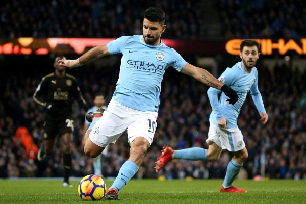 Aguero Scores Four As Iheanacho, Ndidi Go Down With Leicester At City