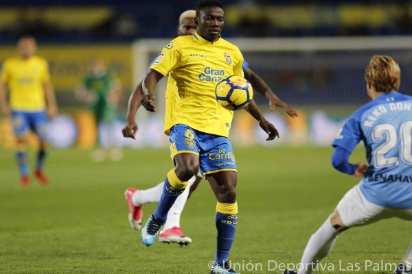 Etebo Pleased To Make Winning Debut  For Las Palmas