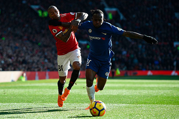 Moses In Action As Lukaku, Lingard Fire United Past Chelsea
