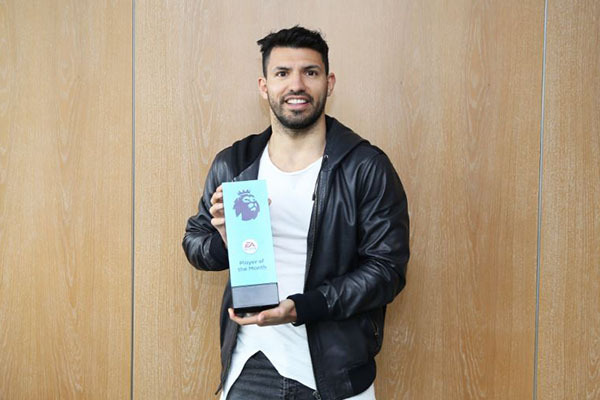 Aguero Beats Hazard, De Bruyne To EPL January Best Player Award