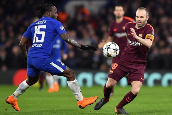 Moses: Chelsea Ready To Go Again Vs Barca After Tough First Leg