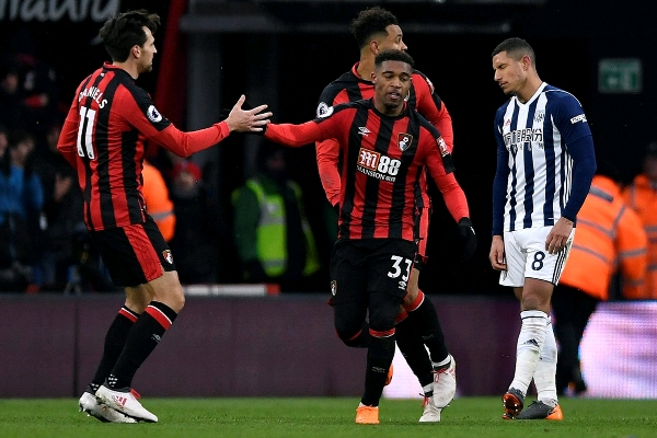 Ibe Scores As Bournemouth Edge Out West Brom; Everton, Palace Win