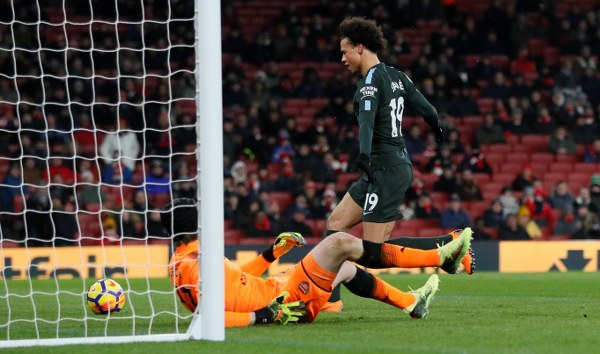 Iwobi Benched, Aubameyang Misses Penalty As Man City Outclass Arsenal