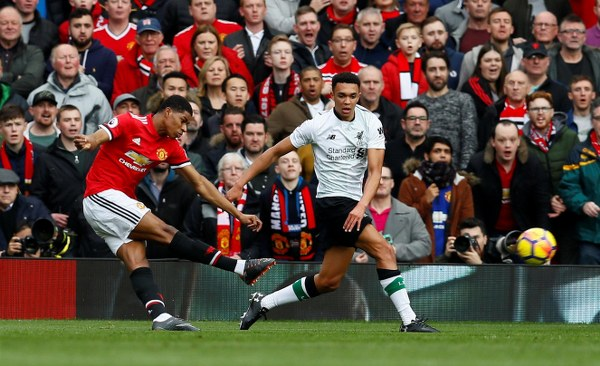 Rashford Hits Brace As Man United Beat Liverpool To Stay Second
