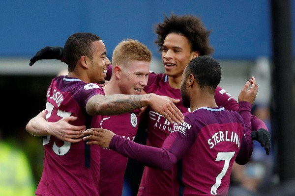 Man City Ease Past Everton, Close On On EPL Title