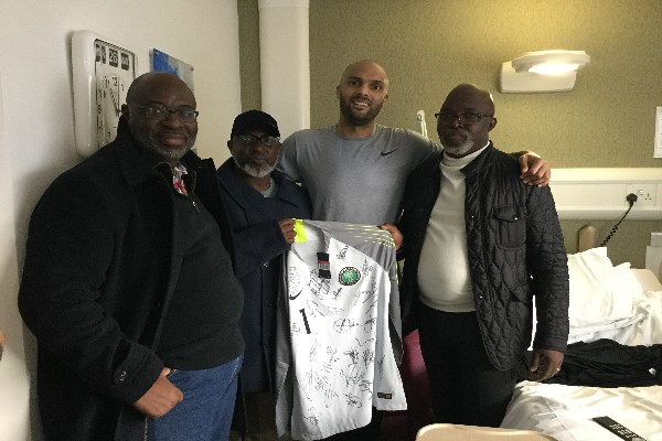 NFF Top Shots Visit Ikeme In Hospital, To Honour Keeper At England Vs Nigeria Friendly