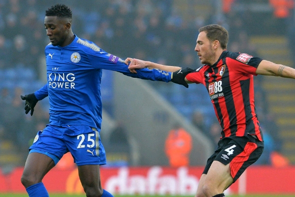 Ndidi, Iheanacho Feature As Leicester Hold Bournemouth; Spurs Go Third, Swansea Win