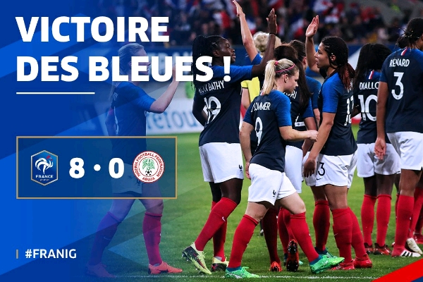 France Batter Super Falcons 8-0 In Friendly!