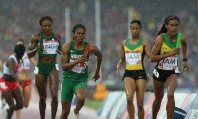 Gold Coast 2018: Nigeria Women's 4x400m Relay Team Team Bags Silver