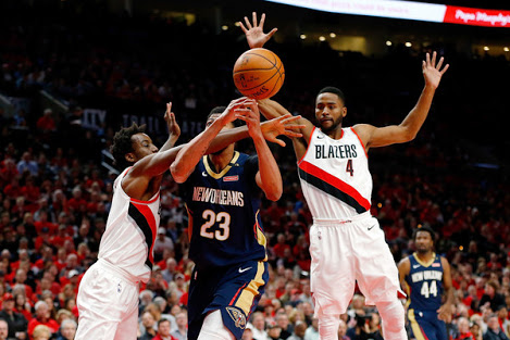 NBA Play-Offs: ​D'Tigers' Aminu Stars As Blazers Lose To Pelicans