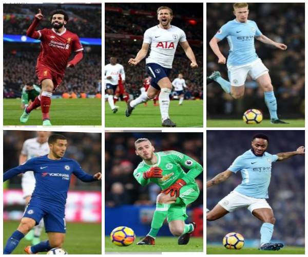 Salah, De Gea, Kane Three Others Up For PFA Fans' POTY Award