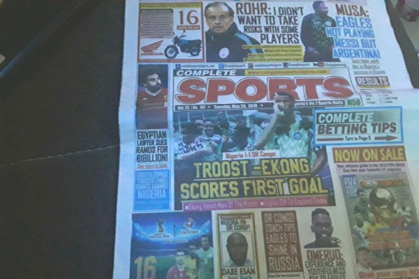 From June 1st, COMPLETE SPORTS Goes For N100 Cover Price