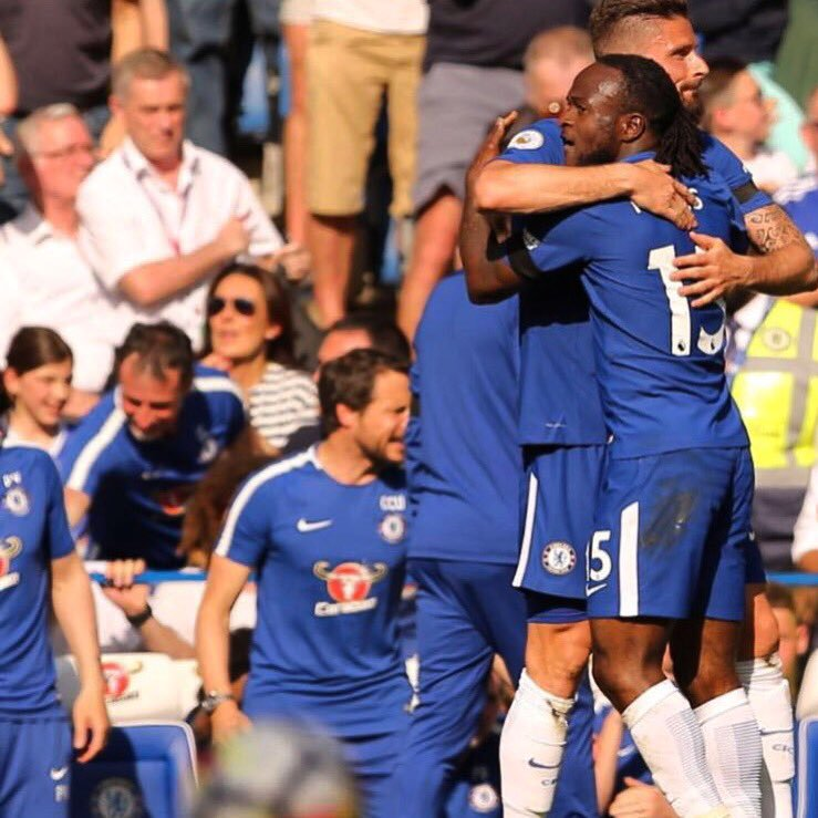 Giroud Hails Moses' Goal Assist In  Chelsea Win Against Liverpool