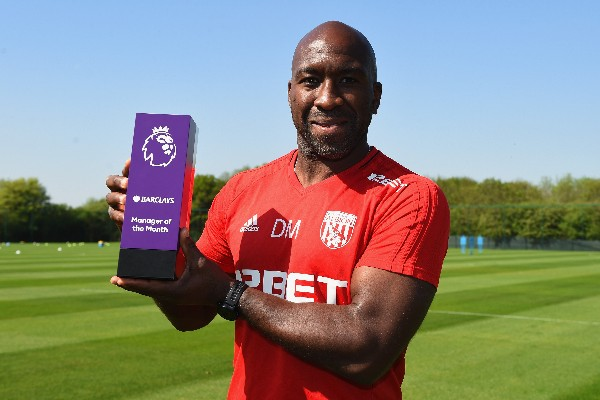 West Brom Interim Coach Moore Beats Pep, Mourinho To EPL April Manager Of Month Award