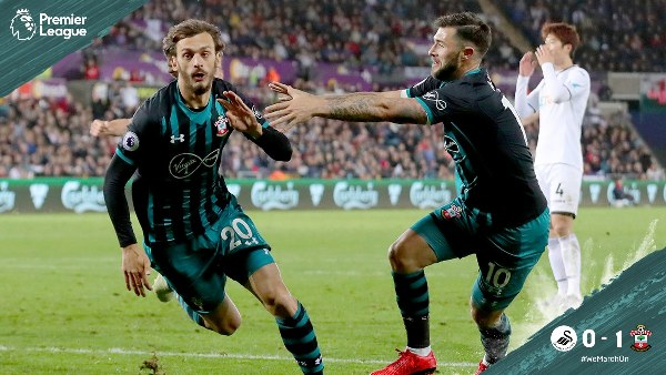 EPL: Southampton Win At Swansea City To Move Out Of Relegation Zone