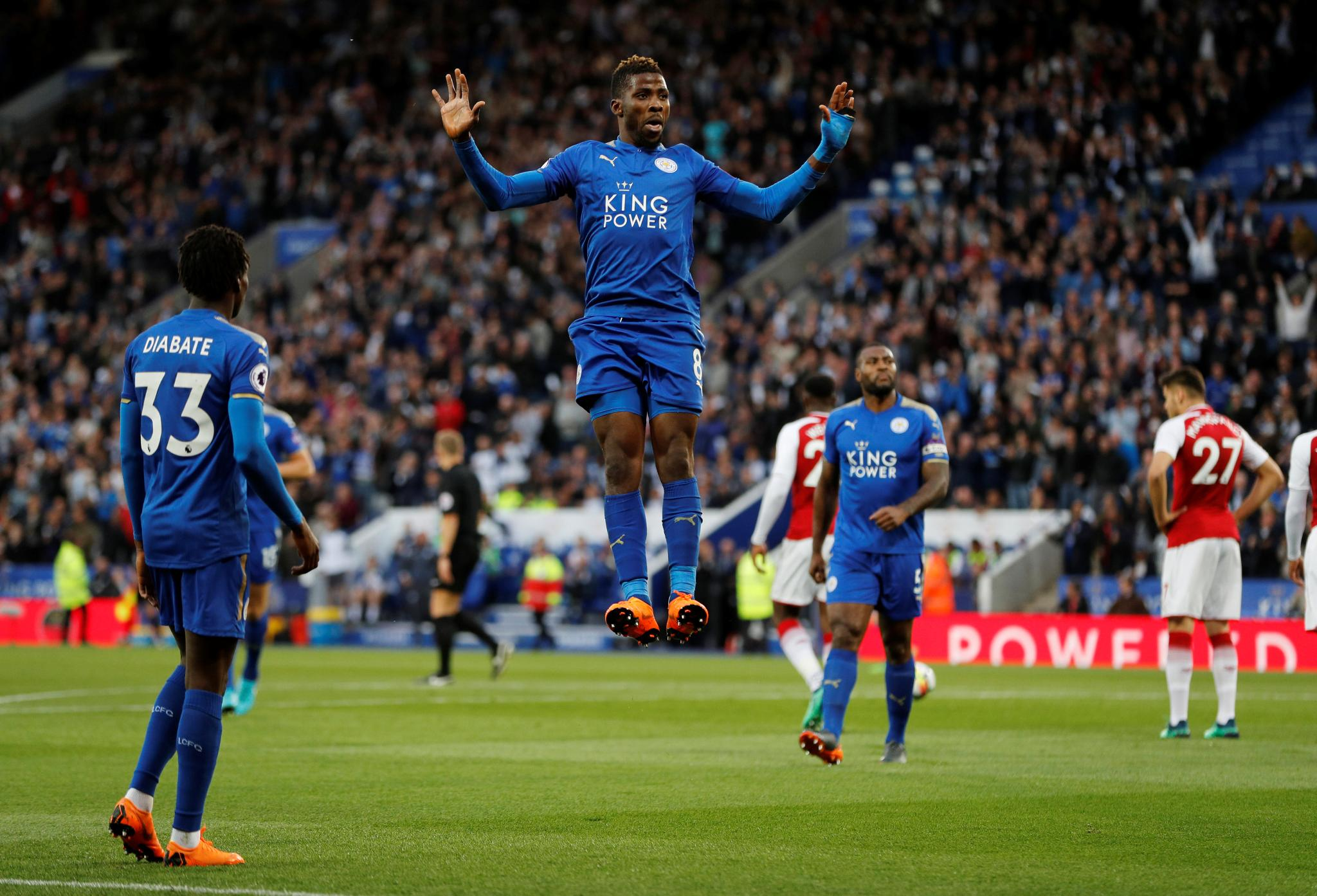 Iheanacho Scores, Iwobi Starts As Leicester Outclass Arsenal; Moses Benched In Chelsea Draw
