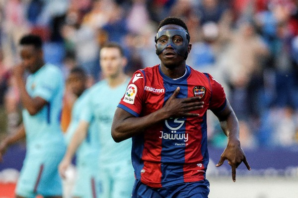 Ghana's Boateng Hits Hat-trick As Levante End Barcelona's Unbeaten Run