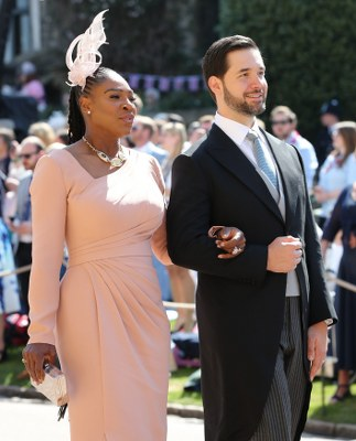 Beckham, Serena Spotted At Royal Wedding