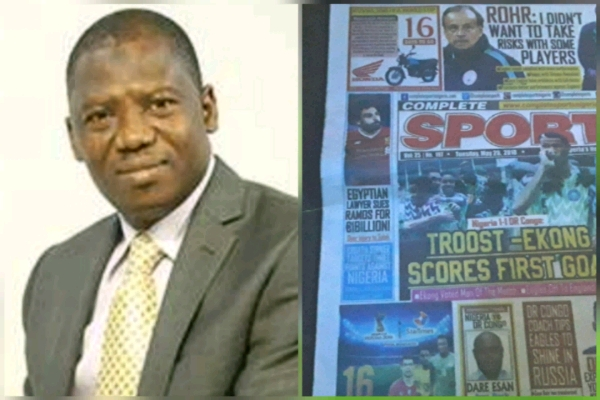 World Cup Message From Mumini Alao to Complete Sports Readers