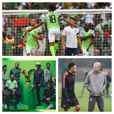 Aubameyang To Support Arsenal Teammate Iwobi, Super Eagles In Russia; Hails New Kit