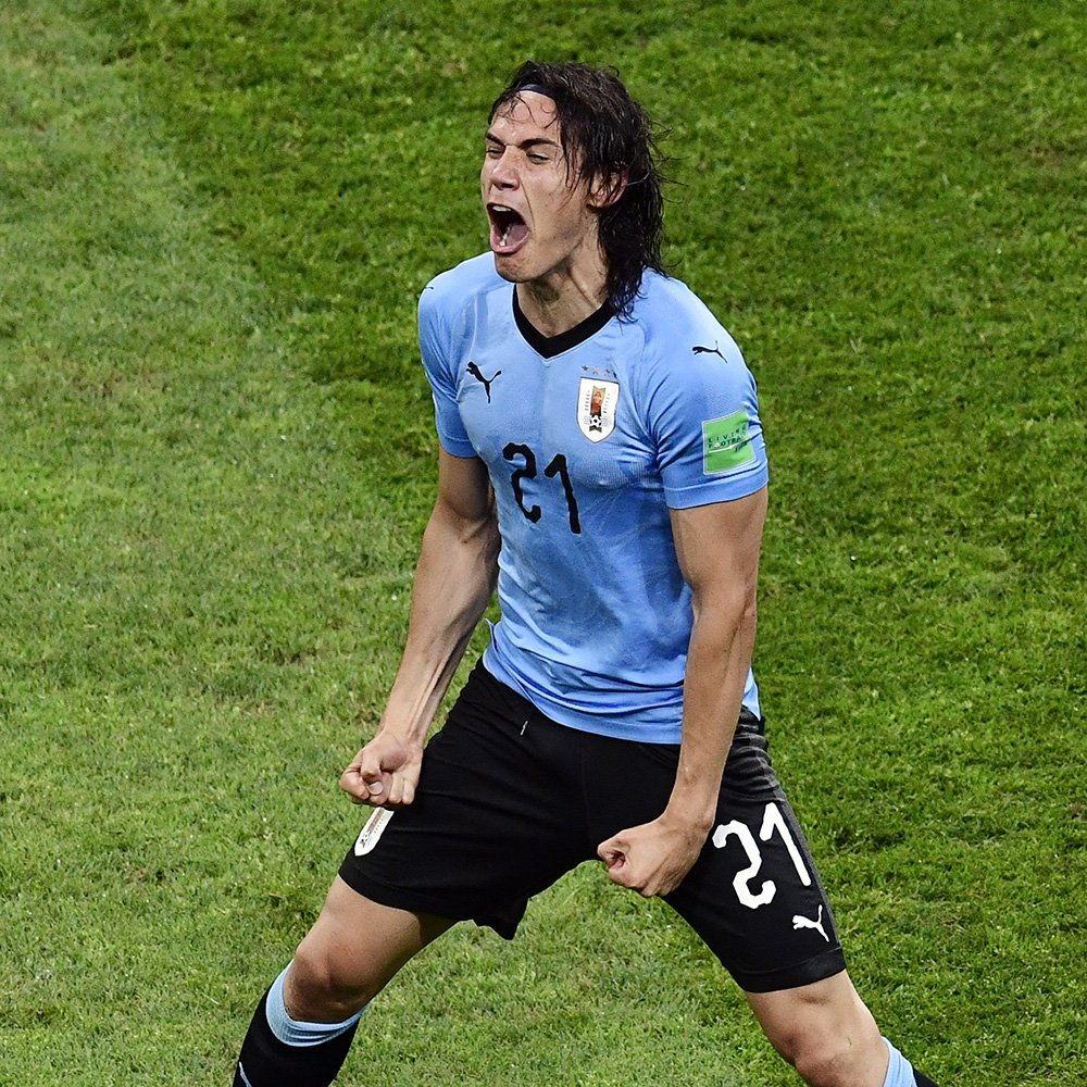 Cavani Voted MOTM In Uruguay Win Over Portugal