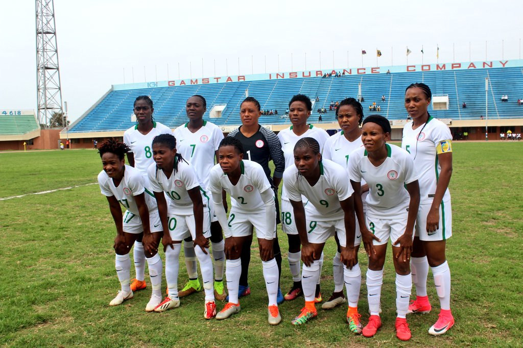 Super Falcons Take First Leg Edge In AWCON Qualifier Vs Gambia