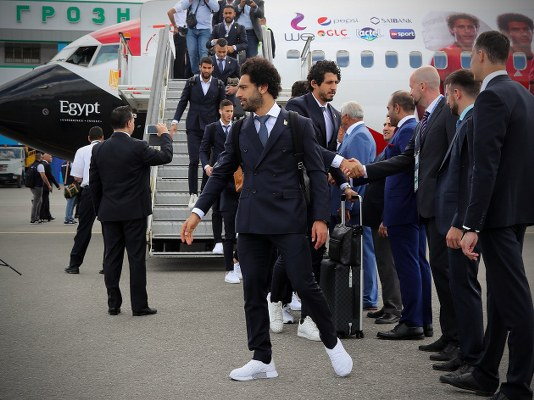 Salah Arrives In Russia With Egypt Squad For World Cup