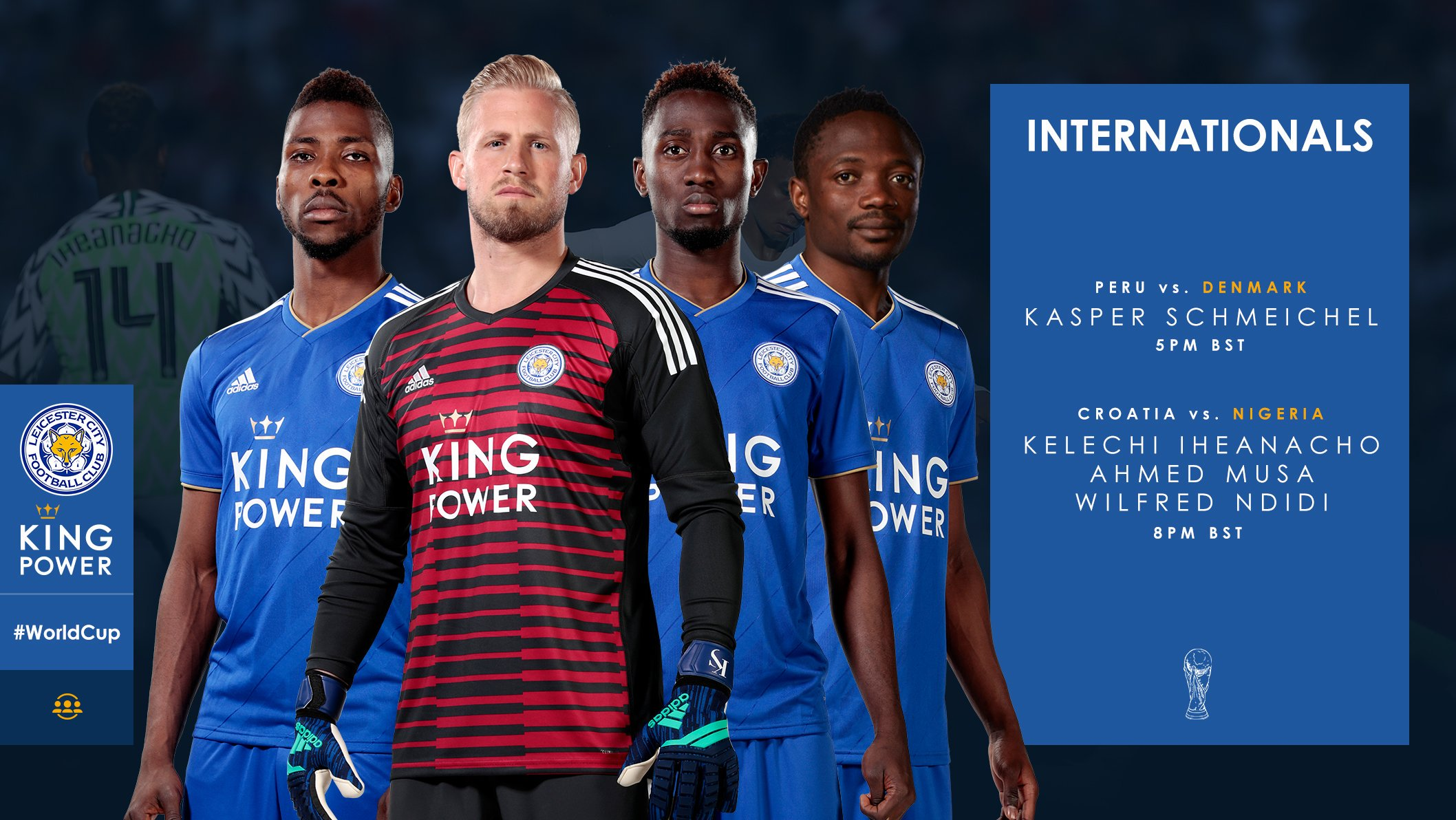 Leicester Back Iheanacho, Musa, Ndidi, Schmeichel For World Cup Success