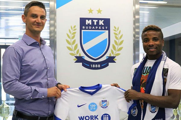 Nigerian King Joins Hungary's MTK Budapest From Honved Budapest