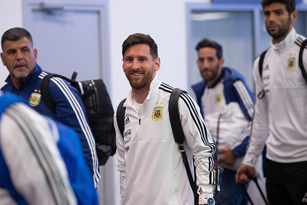 Nigeria's World Cup Opponents Argentina, Iceland Land In Russia
