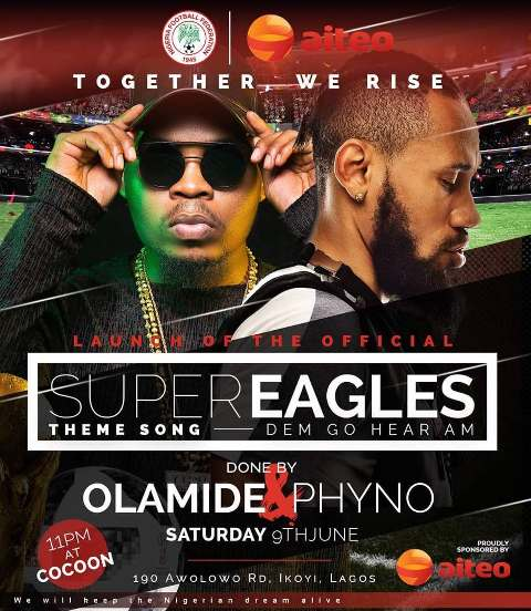 Phyno, Olamide Collabo On Super Eagles Theme Song For Russia 2018