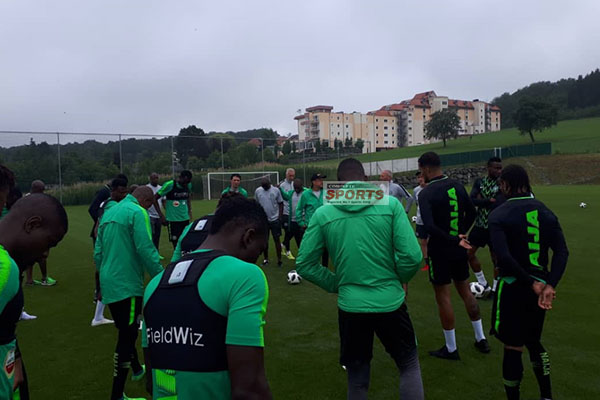 PHOTOS: Super Eagles Back In Training After Czech Republic Defeat