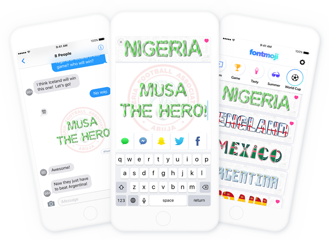 Support The Nigeria World Cup Team With The Fontmoji Sticker App