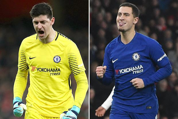 Sarri Noncommittal On Hazard, Courtois' Future At Chelsea