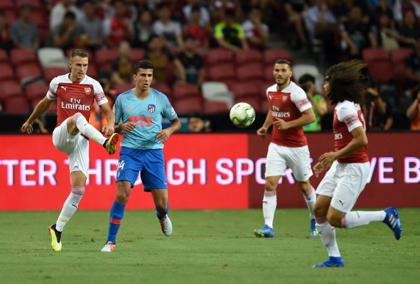 Preseason: Iwobi Missing As Arsenal Bow To Atletico Madrid In Singapore