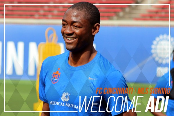 Fanendo Adi Joins MLS  Club FC Cincinnati From Portland Timbers