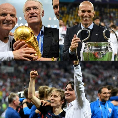 Deschamps, Zidane, Guardiola, Klopp Nominated For 2018 FIFA Best Coach Award