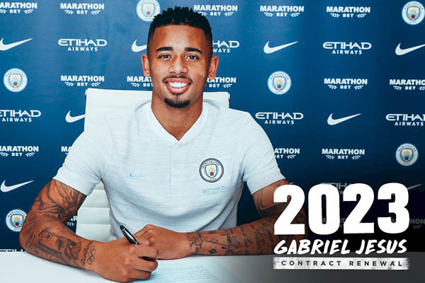 Jesus Signs Two-Year Contract Extension At Man City