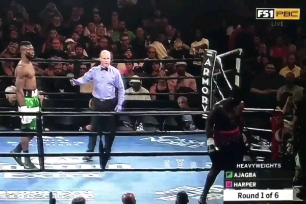 American Boxer Harper Walks Out Of Bout With Nigeria's Ajagba In Protest Over Pay Dispute