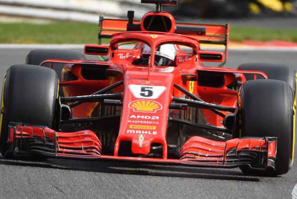 Ferrari Dominate Friday Practice In Belgium