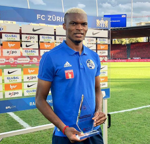 Eleke Wins Goal Of The Month Award In Switzerland