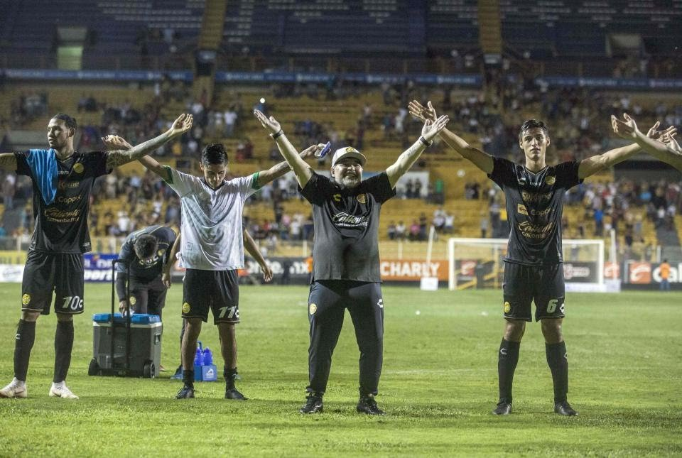 Maradona Wins Debut Game As Coach Of Mexican Club Dorados, Slams Critics
