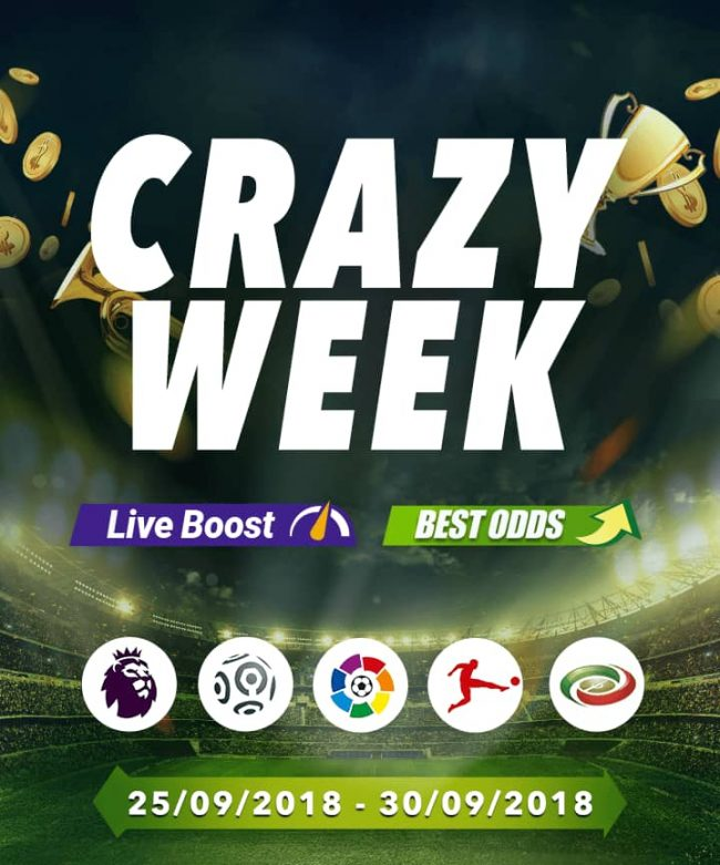 Enjoy SportyBet's Boosted Odds In The 'Crazy Week' Promo, As Chelsea Host Liverpool In The Premier League